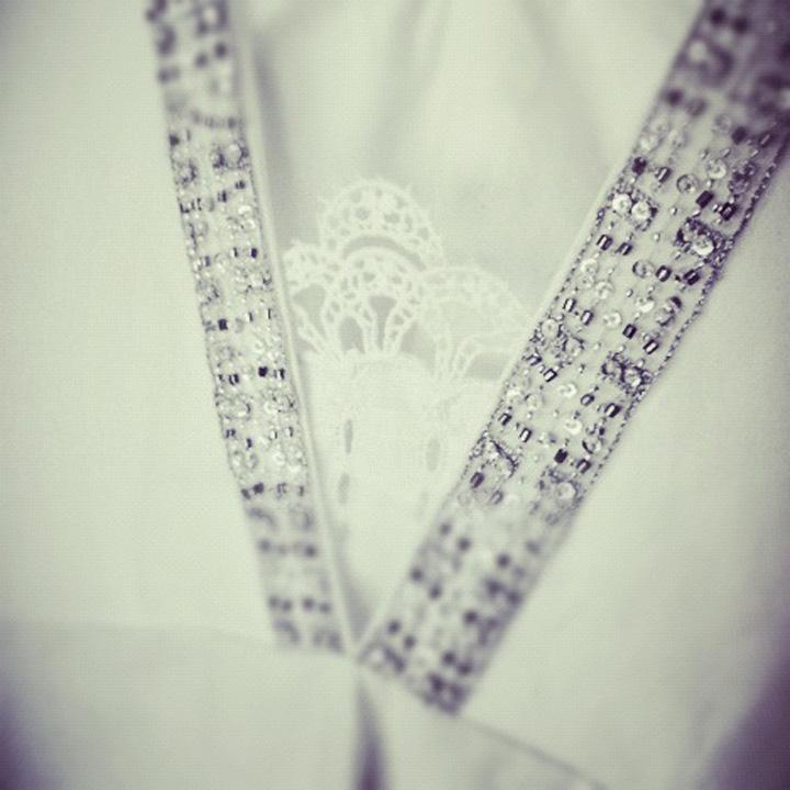 Wedding dress peek