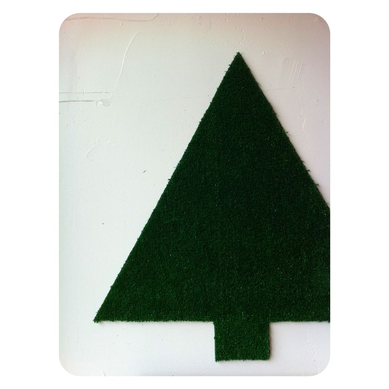 astro turf modern christmas tree